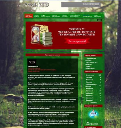 Скрипт Баксика *Baksik MLM* с зеленым дизайном